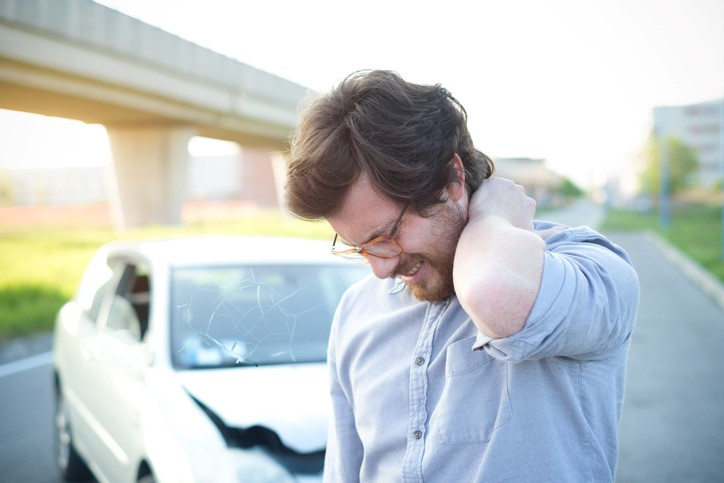 Man needs chiropractic care after car accident