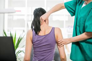 Patient Receiving Chiropractic Help