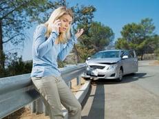 Girl in car crash calling the police